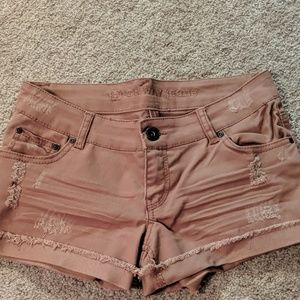 Highway jean shorts distressed
